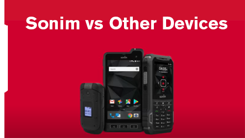 Sonim Rugged Phones vs Other Devices